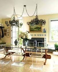 double chandelier over dining table hanging two chandeliers over dining table