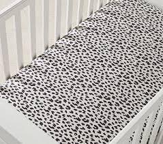 organic cheetah print fitted crib sheet