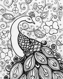 Small Picture Online Printable Peacock Difficult Pattern Coloring Page For Grown
