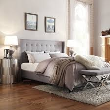 Marion Nailhead Wingback Tufted Upholstered Bed by iNSPIRE Q Bold - Free  Shipping Today - Overstock.com - 16672218
