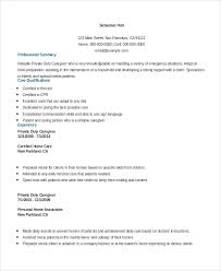 Resume Examples For Caregiver Skills Caregiver Resume Samples