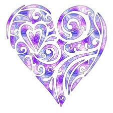 Image result for purple hearts clip art