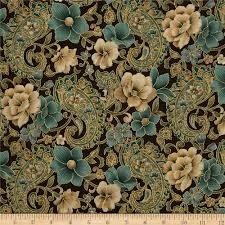Floral Quilting Fabric - Floral Fabric by the Yard | Fabric.com & Marrakech Metallic Paisley Floral Brown Adamdwight.com