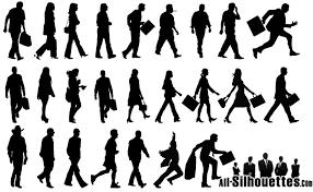 走路人物剪影矢量素材 矢量图库 设计无限 设计资源站 设计无限 设计