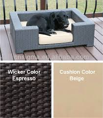 wicker dog bed. Exellent Bed All Weather Resin Wicker Dog Bed  Buy BedSun CushionDay  Cushion Product On Alibabacom For F