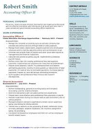 Accounting Officer Sample Resume Best Accounting Officer Resume Samples QwikResume
