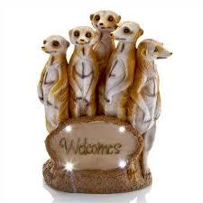 welcomes meerkat family statue 38cm