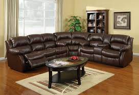Black Leather Sectional Sofa With Recliner Living Room L Shaped Black Leather Sectional Sofa With Matching