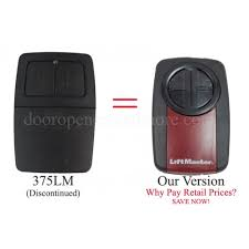 liftmaster 375lm patible universal gate or garage door opener remote control