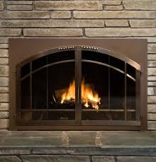 wood burning fireplace glass doors glass door for wood