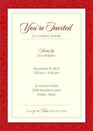 Formal Dinner Invitation Sample Official Dinner Invitation Formal Mail Card Template