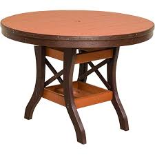 poly lumber round table 30 tall 5 sizes 18 standard colors