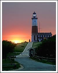 An old postcard view of the lighthouse and the rear range light. Flood Insurance Long Island Lighthouses Beautiful Lighthouse Island Lighthouse