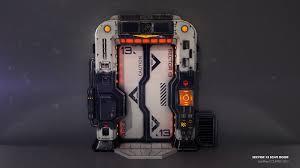 CGTalk Sci Fi Door GeoffreyCouppey 3d