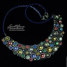 necklace of polymer clay color joy 300 on