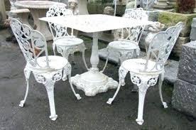 white wrought iron garden furniture. White Wrought Iron Patio Furniture Cast Garden Table A