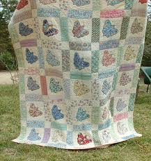56 best Butterfly quilts images on Pinterest | Appliques, Creative ... & Vintage Quilt - 1930's Sweet Butterfly Applique - Feedsacks - Good Shape Adamdwight.com