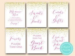 ... signs sn33 bs63 hot pink bridal shower baby shower wedding signages ...