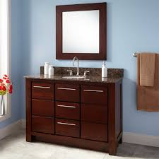 Bathroom Vanity Depth Bathroom Brown Polished Wooden Narrow Depth Bathroom Vanity With