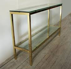 brass console table. Brass And Glass Console Table Design Rectangle Clear Top With Lower . T