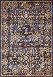 premium vintage traditional modern rugs dark blue 7 x 10 ft