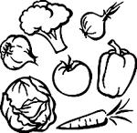 Картинки овощи для раскраски