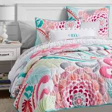 Patch It To Me Quilt--Pottery Barn Teen | Teen Bedroom | Pinterest & Fun colors for a card Ocean Bloom Wholecloth Quilt + Sham Adamdwight.com