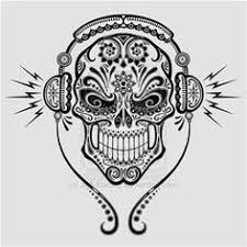 Small Picture Free coloring page coloring tatouage skull skeleton Magnificient