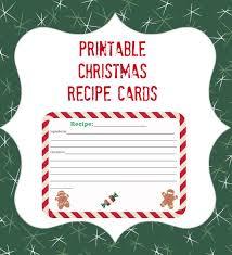 Printable Christmas Recipe Cards Printable Christmas Recipe Card Thrifty Jinxy