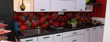 modular kitchen with customized backsplash color glass kitchen units by enrich interiors decors