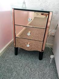 antique mirrored furniture. Gold Mirrored Furniture Pair Of Rose Bedside Tables In Antique S