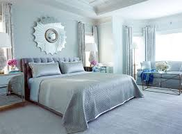 Luxe silver and blue bedroom.