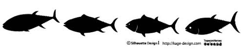 水棲生物のシルエット シルエットデザイン