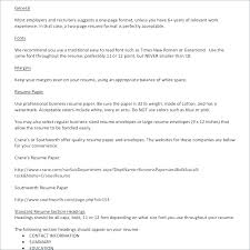 Typical Resume Format Amazing Resume Font Format Resume Formatting Examples Resume Format Font