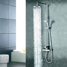 swingeing dual shower head bathroom fixtures dual shower head bathroom fixtures nickel brushed bathroom shower 8