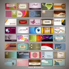 cards templates assorted business cards templates vector free download
