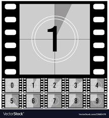 Countdown Frames Retro Film Movie Timer Universal