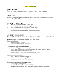 Ministry Resume Sample Resume Template Minister Resume Sample Free Career Resume Template 1