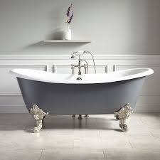 painted a lovely dark gray this beautiful bathtub comes with monarch imperial feet in the finish of your choice complete the look by pairing the lena