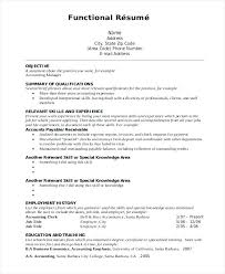 Functional Resume Format Samples Functional Resume Format Example ...