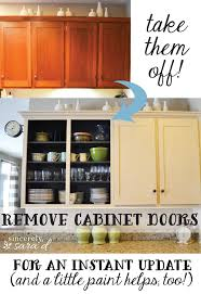 take off your kitchen cabinet doors a free and easy update