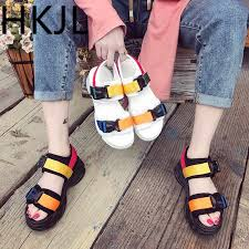 <b>HKJL</b> Chunky sandals for women <b>2019 new Korean</b> version platform ...