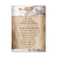 Wedding Invitatiins Aged Birch Petite Invitation Anns Bridal Bargains