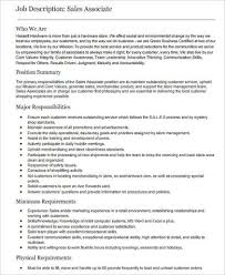 Customer Service Job Description Retail Sample Retail Sales Associate Job Description 6 Examples
