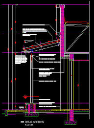 cad details roofing mall walkway side roofing classical 1