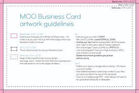 Card Outline Business Card Size Guidelines Artwork Templates Moo