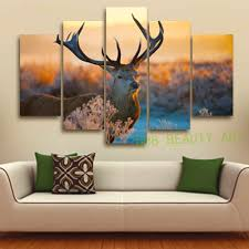 Painting Of Living Room 5 Pieces Unframed The Mosse Canvas Painting For Living Room Home