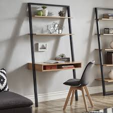 ranell leaning desk ladder shelves by inspire q modern free today com 22829302