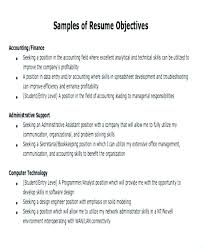 How To Write An Objective On A Resume Formal Sample Objective In Simple How To Write An Objective Resume