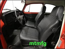 we offer these classic vw beetle seat covers in oem black basket weave vinyl